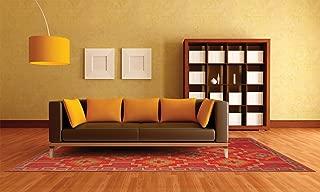 Fab Habitat Lhasa Indoor/Outdoor Rug, Orange & Violet, (5' x 8')
