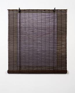 Estores Basic, persianas de bambu, Wengué, 90x170cm,