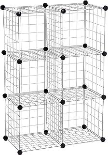 Honey-Can-Do SHF-01794 Modular Mesh Storage Cube, 6-Pack, Chrome, 43Hx29W,Silver