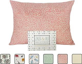 Zack & Ali Organic Toddler Pillowcase, Pink Dot, 13-Inch-by-18-Inch