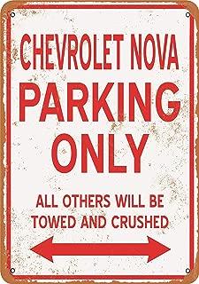 Wall-Color 7 x 10 Metal Sign - Chevrolet NOVA Parking ONLY - Vintage Look
