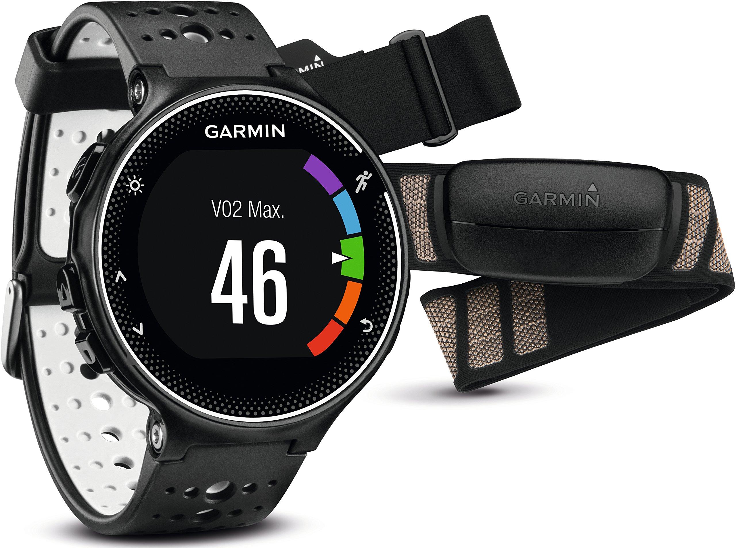 Garmin Forerunner 230 - Pack con reloj de carrera y pulsómetro premium, unisex, color negro y blanco, talla regular: Amazon.es: Deportes y aire libre