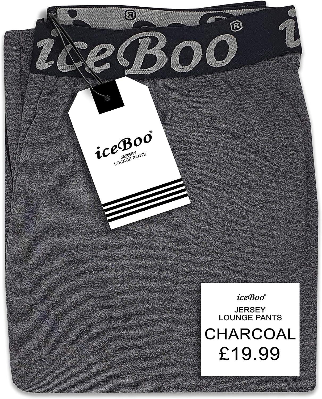 iceBoo/® Mens Pyjamas Pants Bottoms Cotton Soft Jersey Fabric Lounge Trousers Nightwear Pjs