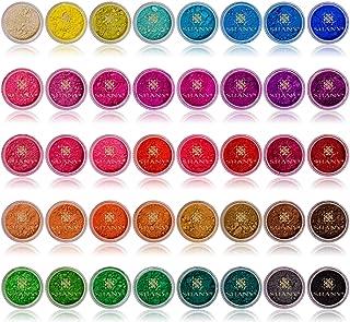 بودرة فضفاضة من شاني تحتوي على عناصر معدنية، تشكلية ألوان مفضلة، عدد 40