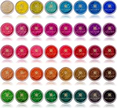 SHANY Cosmetics Mineral Eyeshadow Loose Powder, Favorite Colors, 40 Count