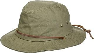 قبعة فيدورا من القطن المشمع قصيرة الحواف المبطنة من بِن