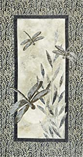 Northcott Dragonfly Moon Neutrals Panel 24'' Black/Taupe ,1
