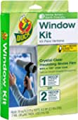 OMNFAS Door and Window Screen Repair Kit 4 x 4 Inches Strong Fiberglass Holes Cover Mesh Tape Kit
