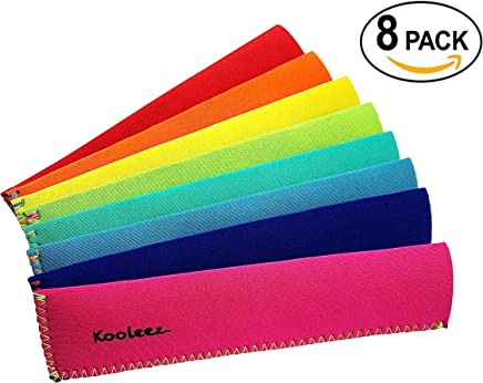 featured product Kooleez - #1 THE ORIGINAL Neoprene FULL LENGTH Freezer Pop Sleeve / Ice Pop Sleeve 8-Pack