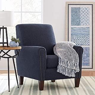 Stone & Beam Modern Woven Farmhouse Throw Blanket, Soft and Cozy, 50