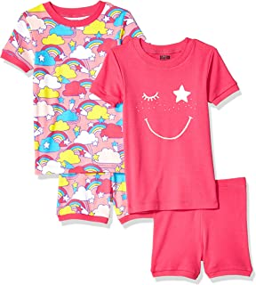 Amazon Brand - Spotted Zebra Baby, Toddler, and Kids 4-Piece Snug-fit Cotton Pajama Short Set