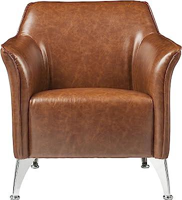 ACME Furniture Teague Accent Chair, Brown PU