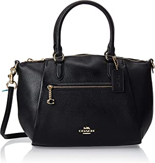 Coach Womens Satchel Bag, Gold/Black - 79316 GDBLK