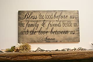 Bless The Food Before Us Kitchen Sign