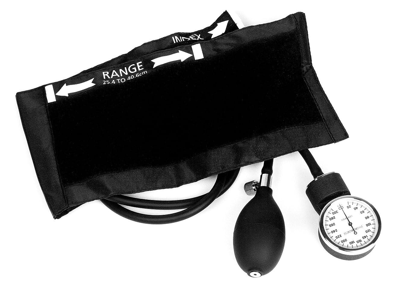 スクランブル観察カウボーイDixie Ems Deluxe Aneroid Sphygmomanometer Blood Pressure Cuff, Black by Dixie Ems
