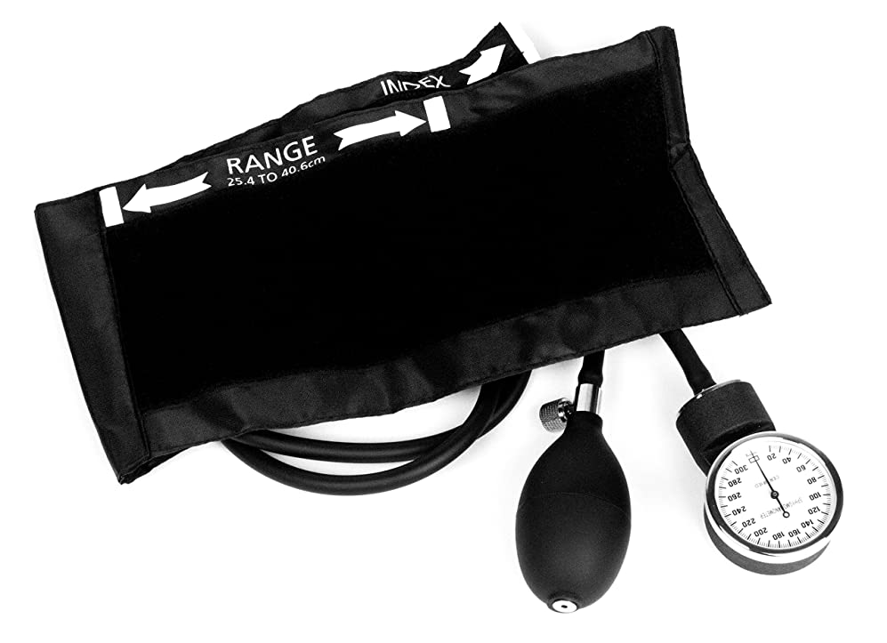 モノグラフ豆仕方Dixie Ems Deluxe Aneroid Sphygmomanometer Blood Pressure Cuff, Black by Dixie Ems