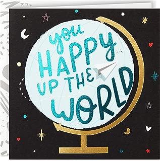 Hallmark Good Mail Birthday Card, Thank You Card, Teacher Appreciation Card (You Happy Up The World)