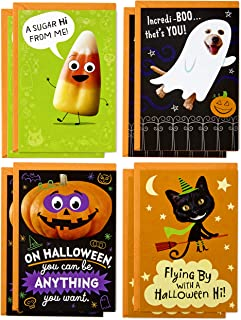 Hallmark Halloween Cards Assortment, Candy Corn (8 Cards with Envelopes)