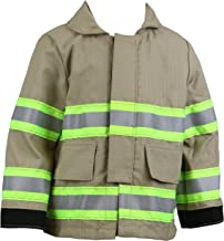 Fully Involved Stitching Firefighter Personalized Tan Toddler Jacket