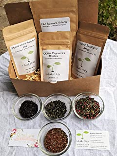 Cultivate Taste Tea Handcrafted Premium Iced Tea Box contains 4 different 1 ounce teas, Gift, No Candy, No Sugar, No Flavorings, Healthy, Mindfulness, Caffeine, Caffeine Free,