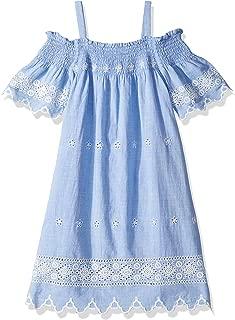 Ella Moss Girls Big Yarn Dyed Stripe Lace Romper