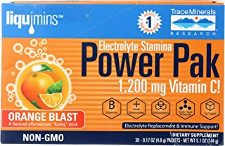 Trace Minerals, Electrolyte Powder Stamina Packet Box Orange, 0.26 Ounce, 30 Count