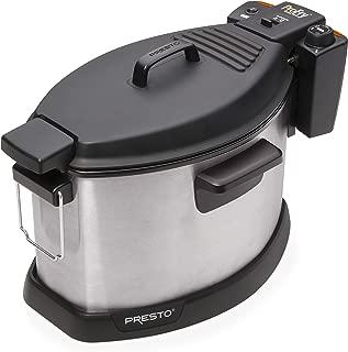 Presto 05487 Profry Electric Rotisserie Turkey Fryer Deep, Silver