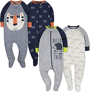 Gerber Baby Boys' 4 Pack Sleep 'N Play Footie