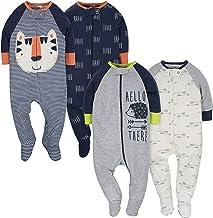 Gerber Baby Boys, Paquete de 4 Unidades para Dormir y Jugar
