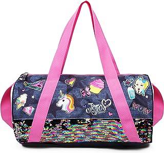 Nickelodeon JoJo Siwa Pink Denim Sequin Unicorn Sticker Duffle Bag for Girls