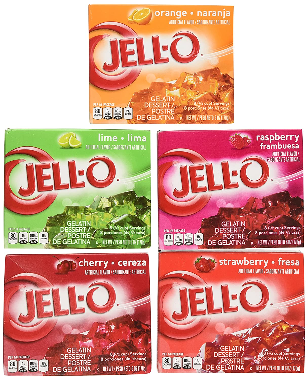 Jell-O Variety Super sale Pack Orange Cherry Baltimore Mall oz Lime Raspberry 6 Strawberry