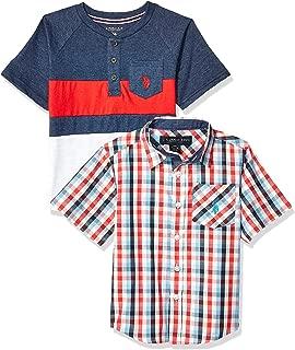 U.S. Polo Assn. Boys' Short Sleeve Woven T-Shirt Set