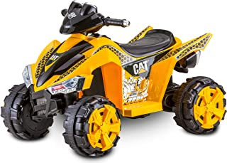 Kid Trax Caterpillar ATV Toddler Ride On Toy, 6 Volt Battery, 3-5 Years, Max Rider Weight of 60 lbs, Single Rider, CAT ATV