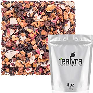 Tealyra - Sweet Berry Compote - Hibiscus - Cherry - Raspbery - Herbal Fruity Loose leaf Tea - Vitamins Rich - Hot and Iced...