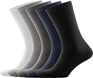 NUDUS Men's Bamboo Ankle   Quarter   Dress Socks, 5-Pair Gift Box, Premium Quality