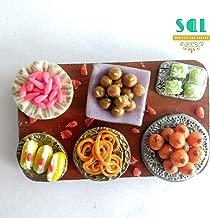 Soniya's Art Lounge Indian Sweets Handmade Miniature Food Fridge Magnet (8 x 5 cm)