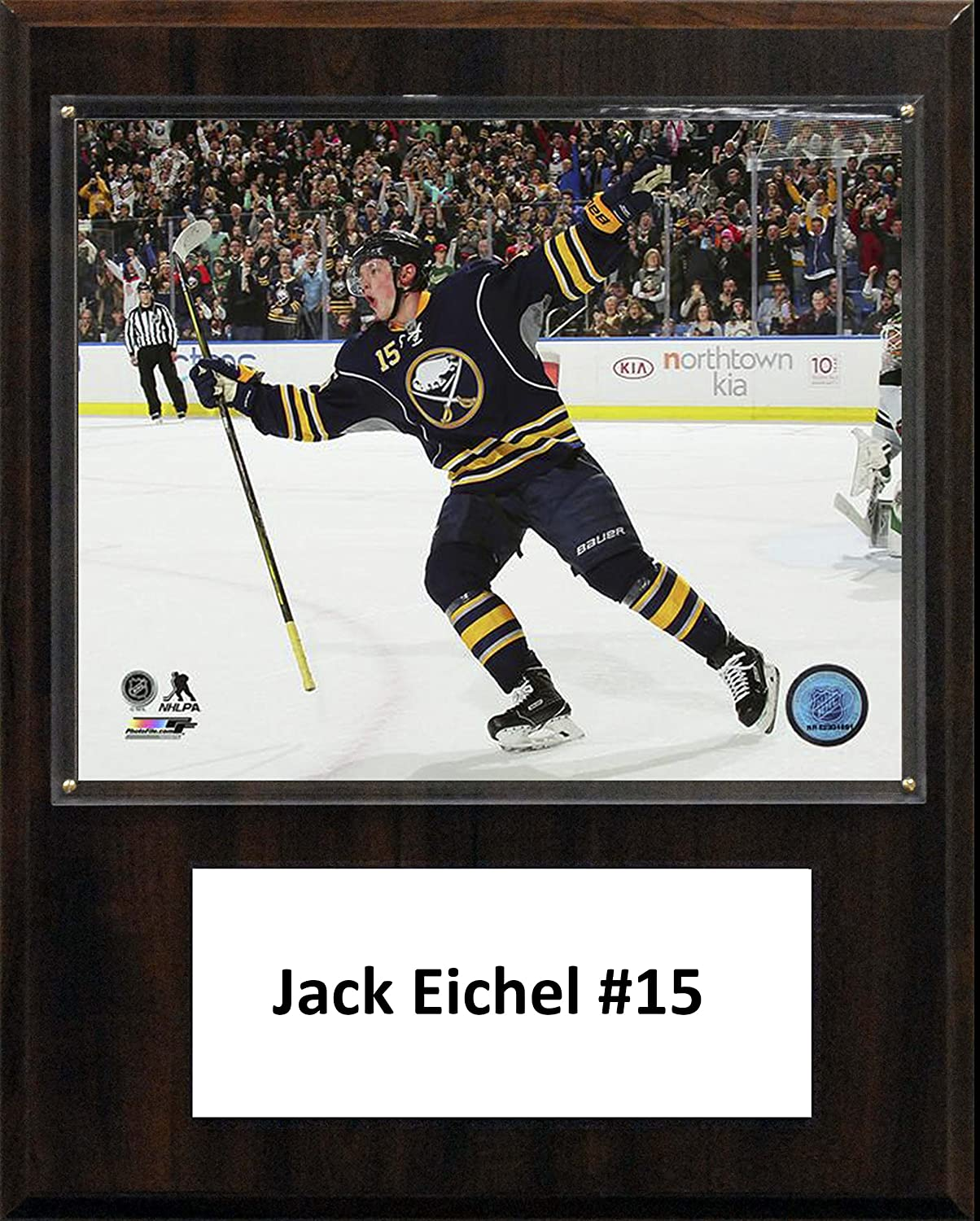 NHL Buffalo Sabres Jack Eichel Player Plaque, Brown, 12  x 15