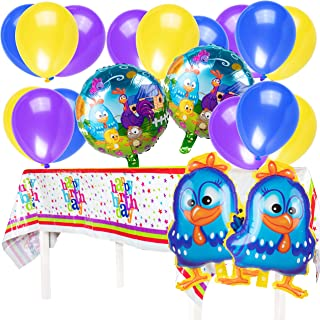 Galinha Pintadinha Pintadita - Lottie Dottie Chicken Party Supplies - La Gallina Toys - Balloons