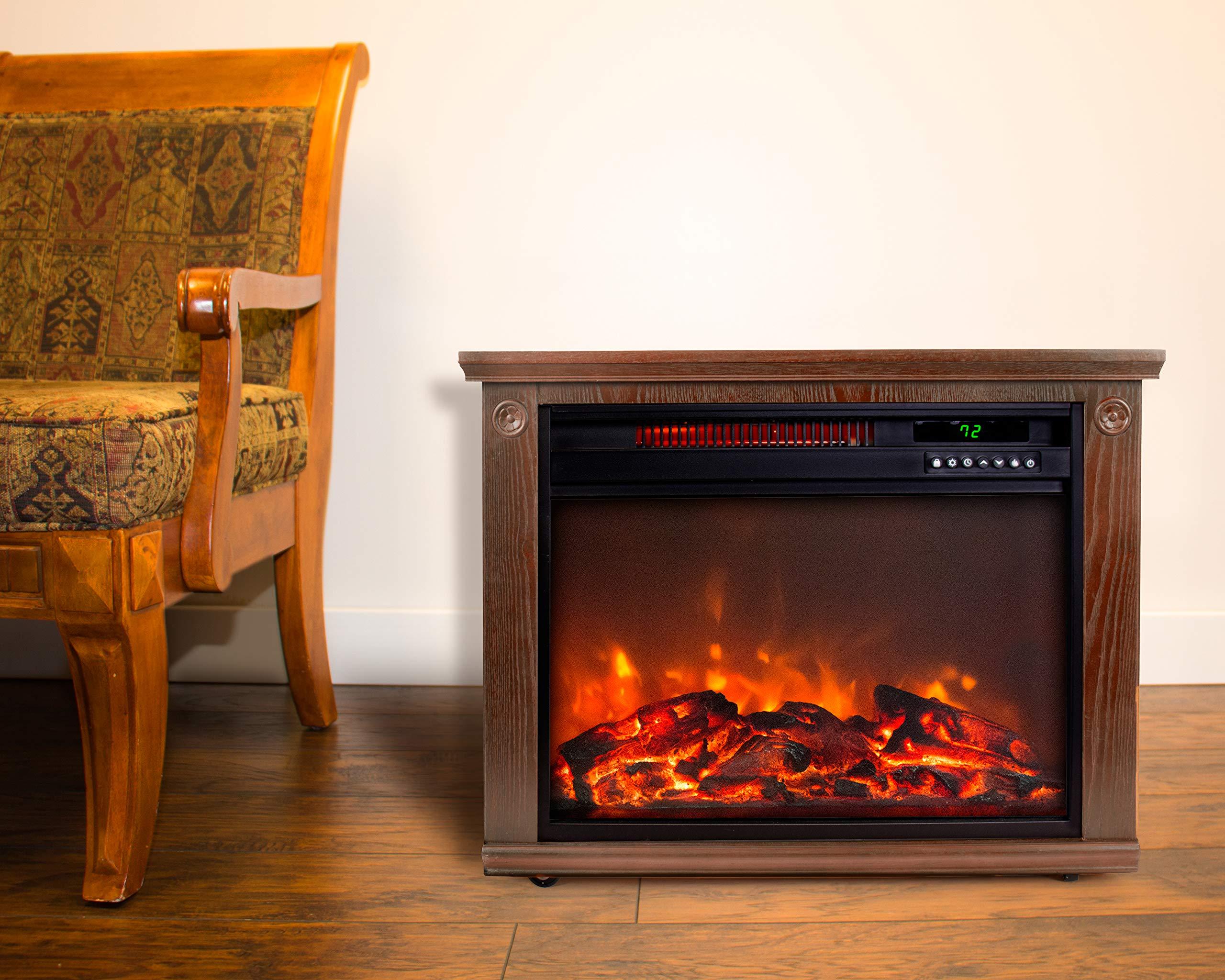 Lifesmart Infrared Quartz Fireplace Burnished