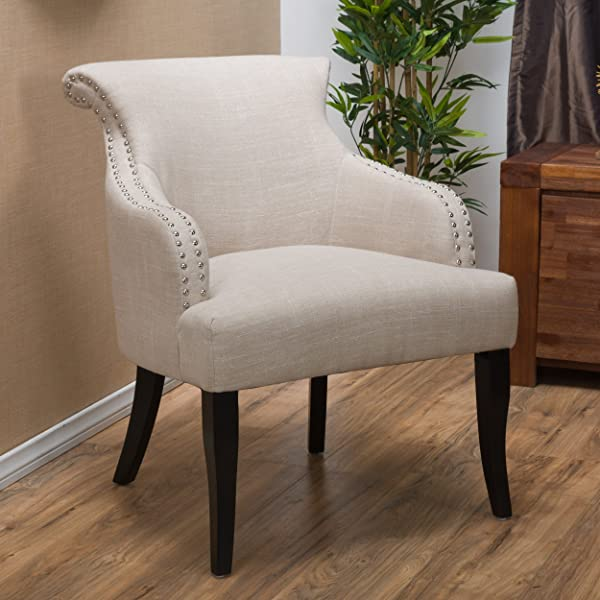 Christopher Knight Home 296635 Filmore Fabric Arm Chair Light Beige