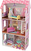 KidKraft Penelope Wooden Pretend Play House Doll Dollhouse Mansion with Furniture, Multi,..