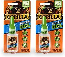 Gorilla 7700108 20 Gram 2-Pack Super Glue Gel, Clear