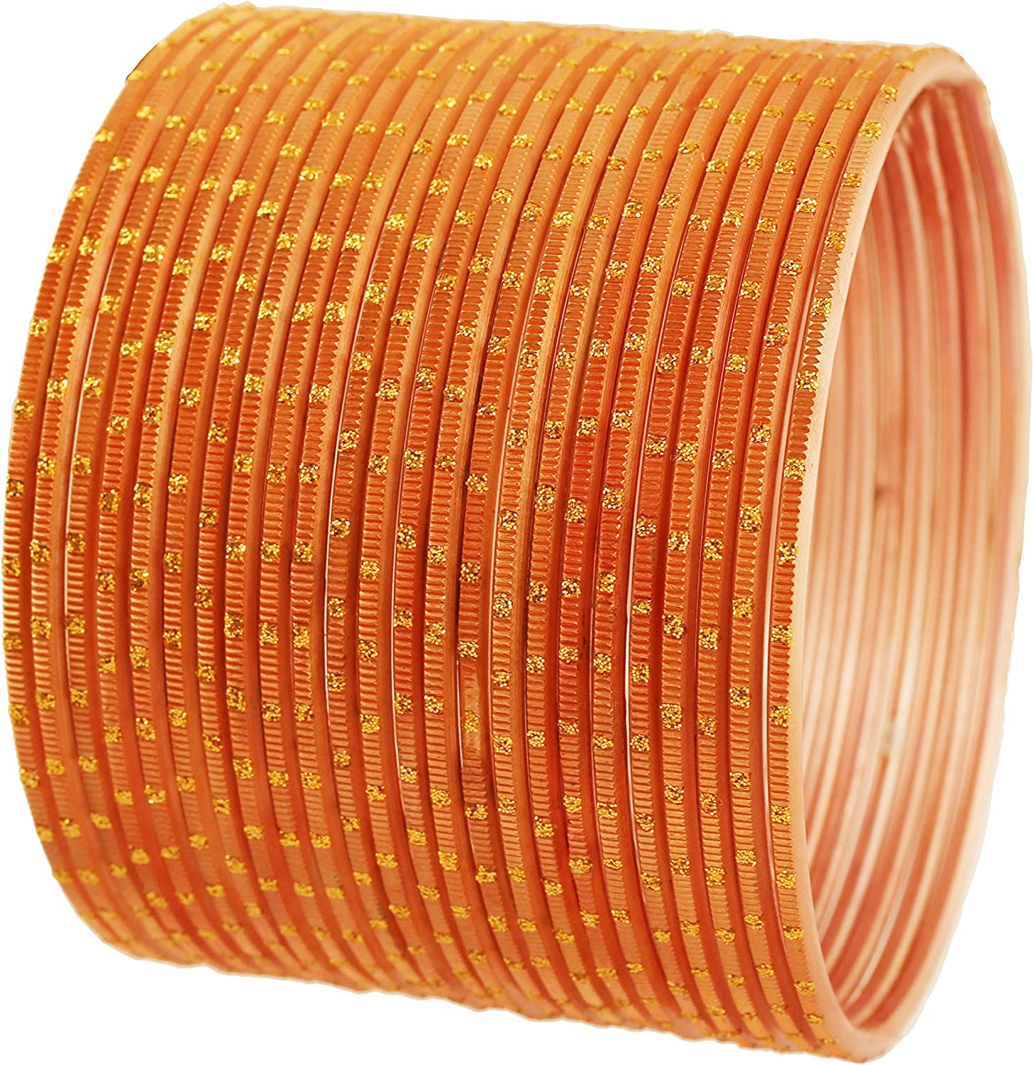 Touchstone Indian Bollywood Pretty Fashion Golden Dots Gorgeous Vintage Textured Color Attractive Designer Jewelry Bangle Bracelets for Women.