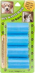 Bright Concepts Pet Waste Bags for Dogs, Cats and other small pets, 15 x 8 inches, 80 Count