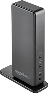 AmazonBasics USB 3.0 Universal Laptop Dual Monitor Docking Station