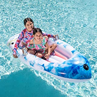 """Inflatable Boat Swimming Pool Float for Kids and Adults Summer Water Float Toys 67""""x34""""Lounge Raft"""