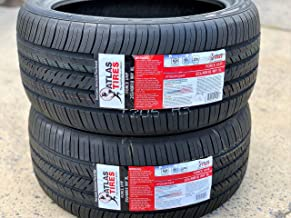 Set of 2 (TWO) Atlas Tire Force UHP Ultra-High Performance All-Season Radial Tires - 255/40R18 99Y XL