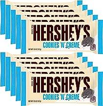 Hershey's Cookies 'n' Creme Bar, 1.55-Ounce Bar (Pack of 10)