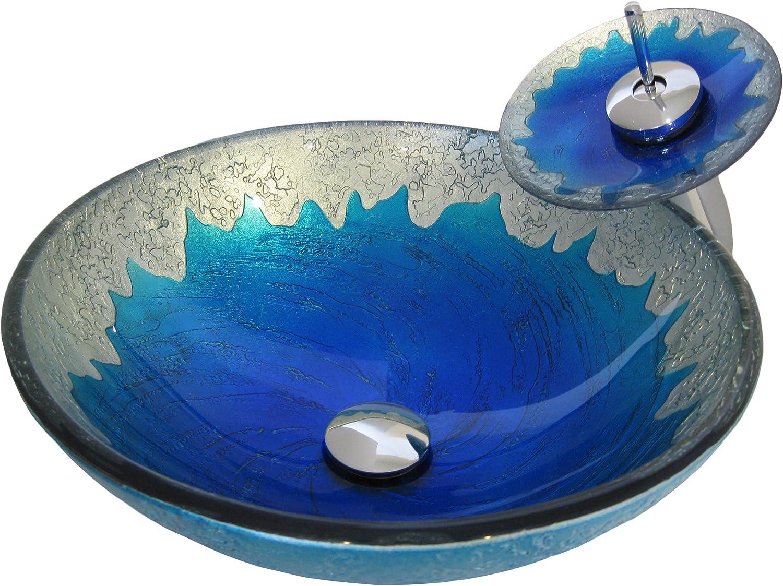 El Paso Mall Novatto DIACCIO Glass Vessel Sink Set Chrome Bathroom Don't miss the campaign