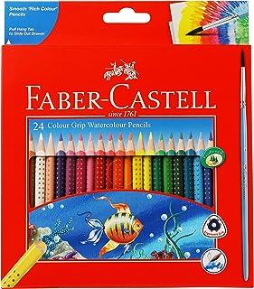 Faber-Castell Colour Grip Water Colour Pencils - 24 Shades